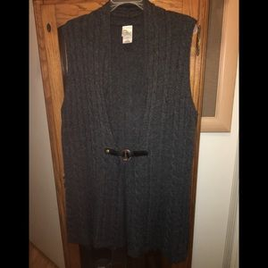 Dark Gray Just My Size To the Knee Sweater Vest